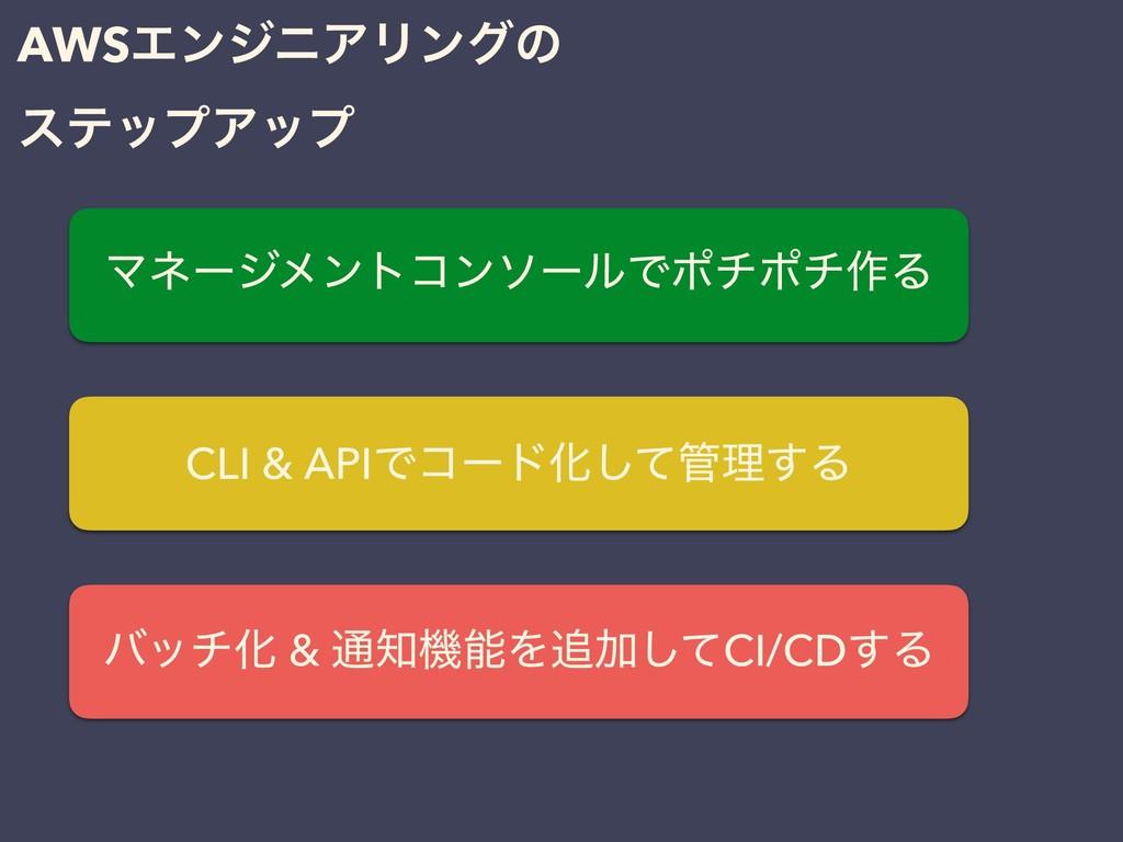 AWSΤϯδχΞϦϯάͷ εςοϓΞοϓ ϚωʔδϝϯτίϯιʔϧͰϙνϙν࡞Δ CLI & ...