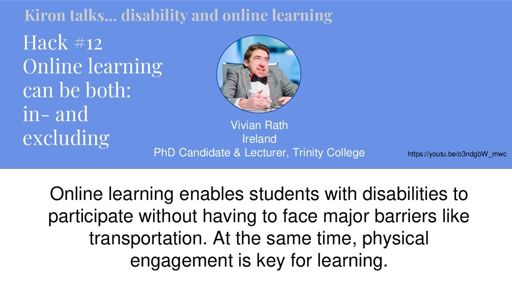 Hack #12 Online learning can be both: in- and e...
