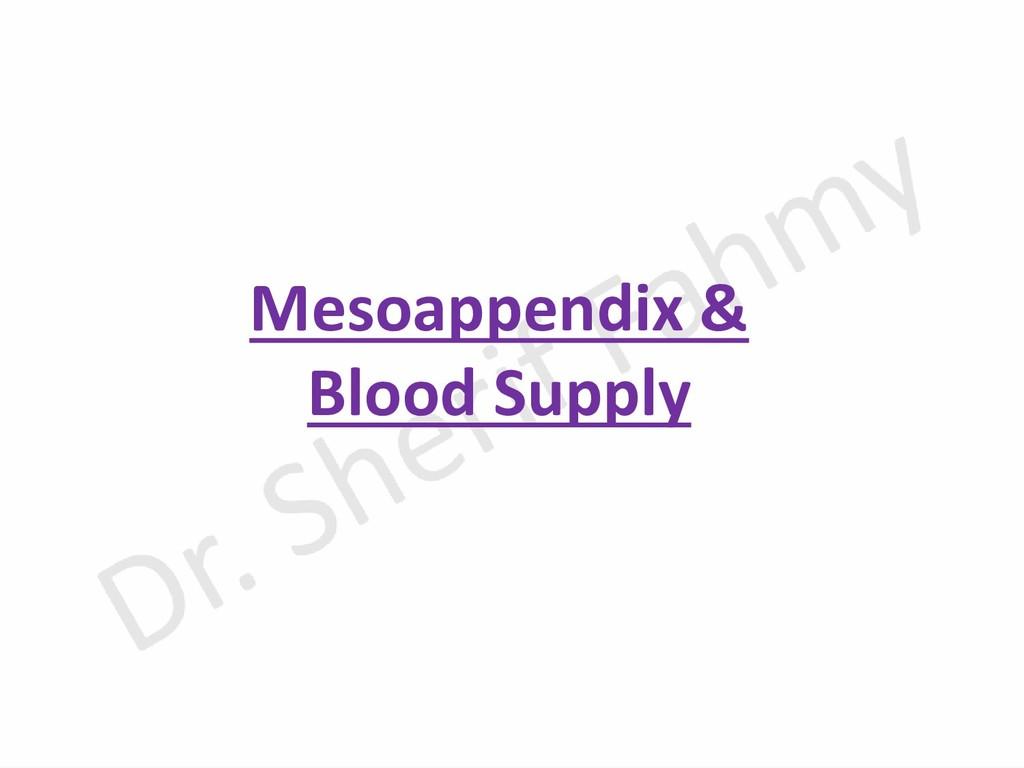 Mesoappendix & Blood Supply
