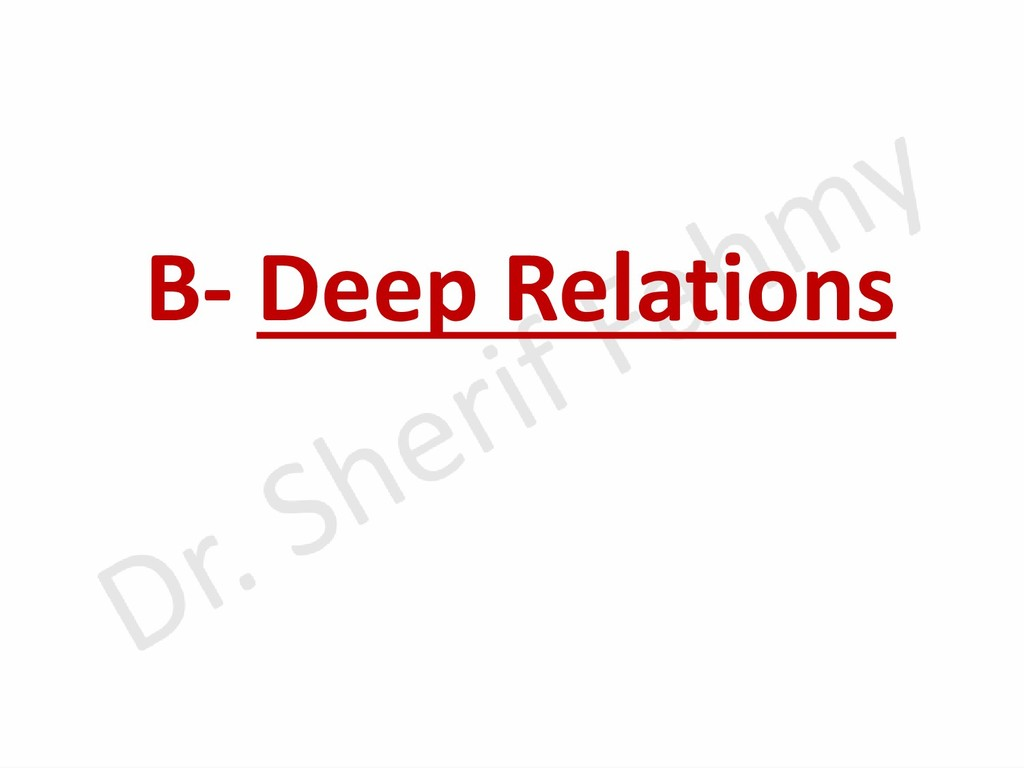 B- Deep Relations