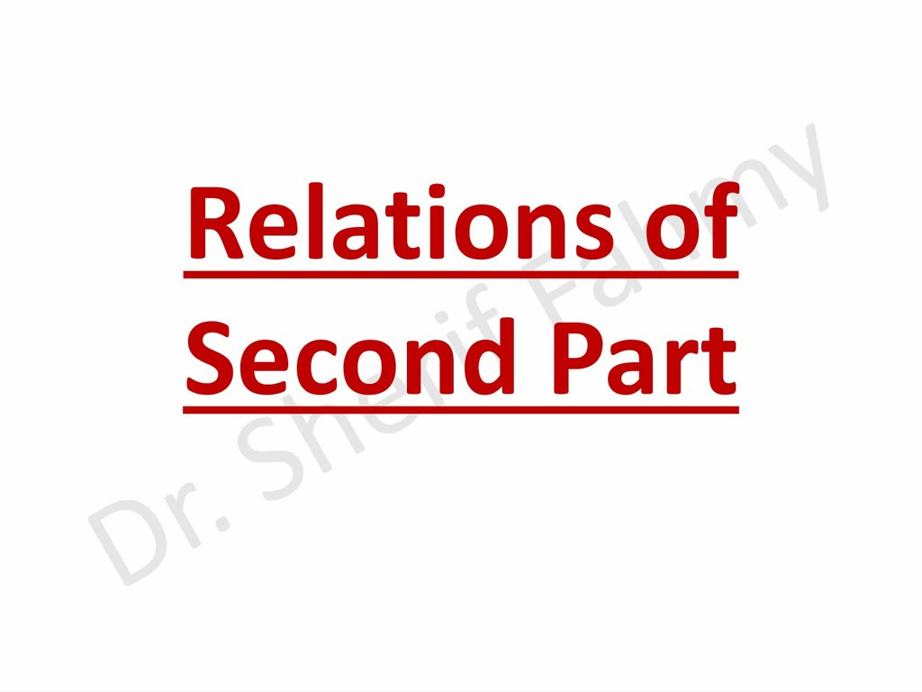Relations of Second Part