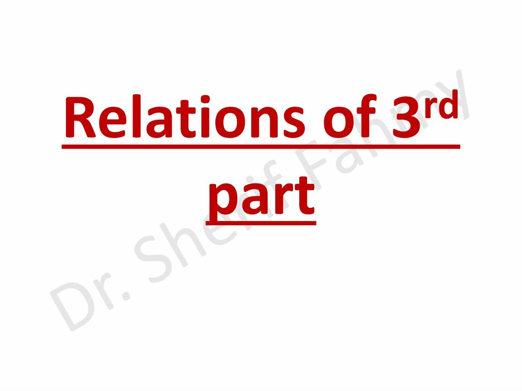 Relations of 3rd part