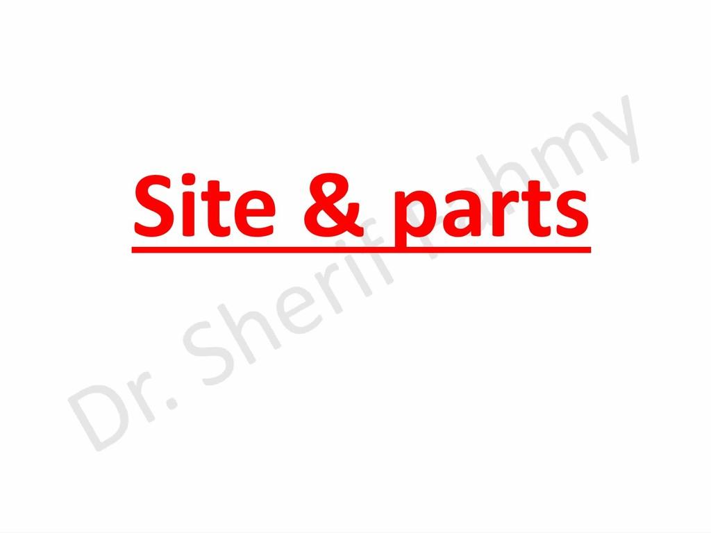 Site & parts