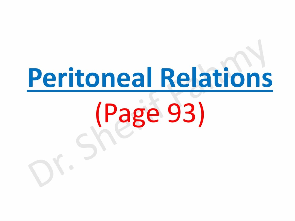Peritoneal Relations (Page 93)