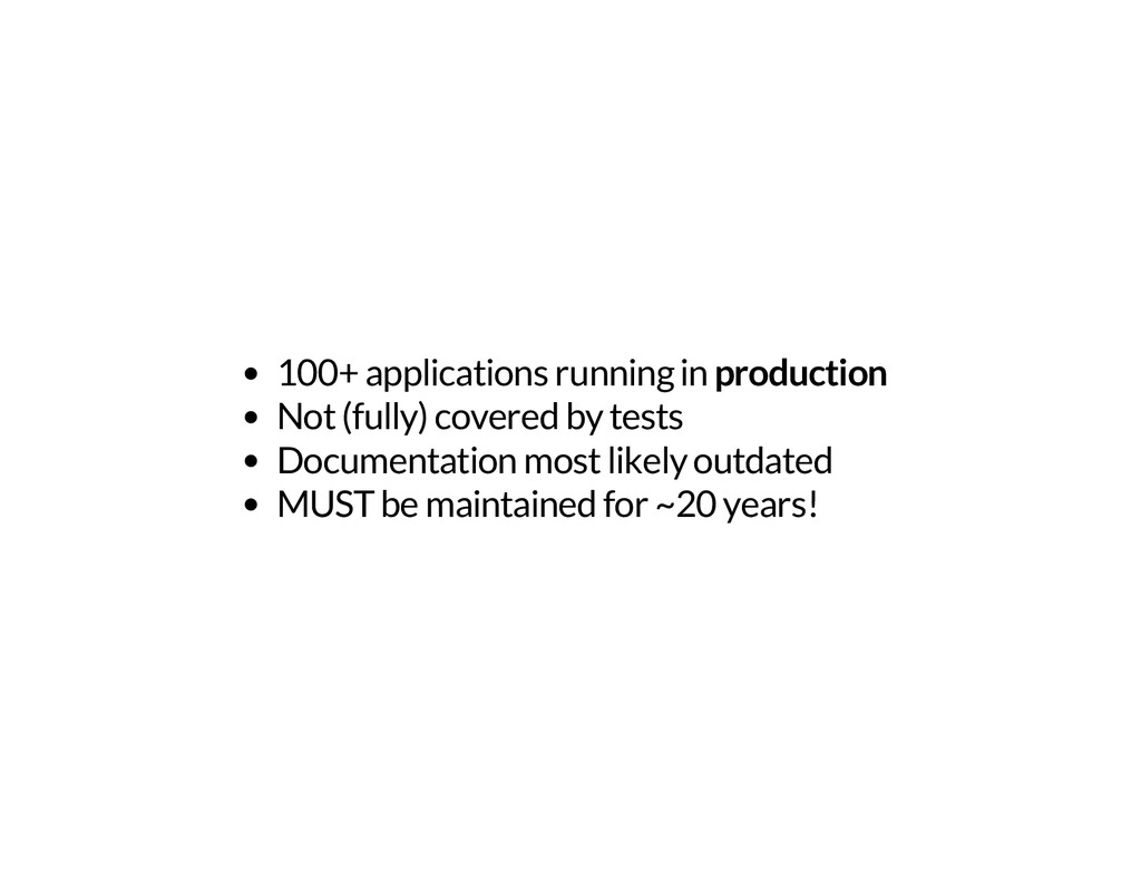100+ applications running in production Not (fu...