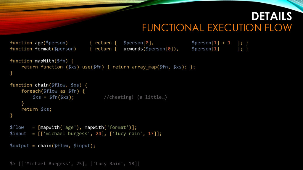 DETAILS FUNCTIONAL EXECUTION FLOW function age(...