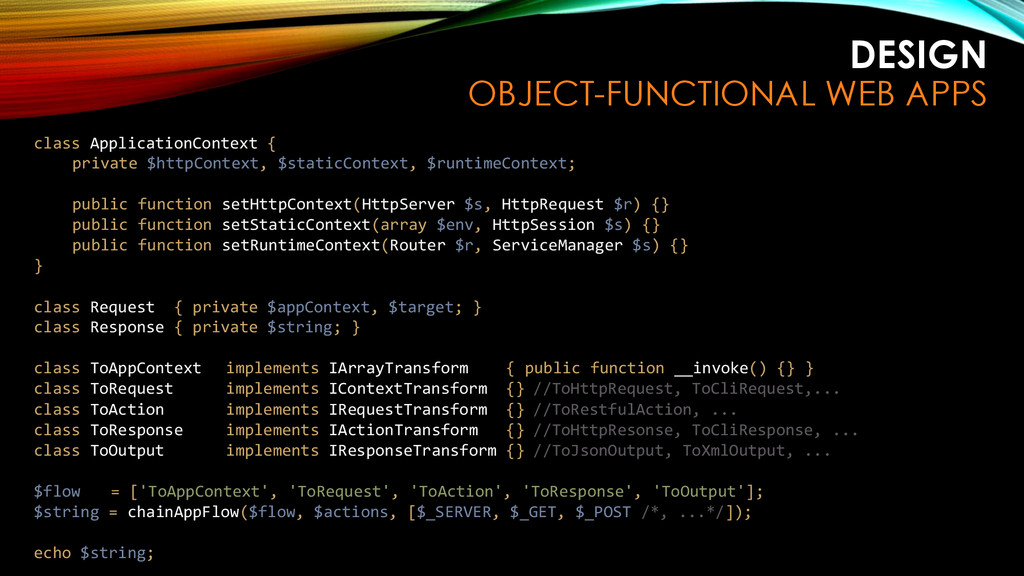 DESIGN OBJECT-FUNCTIONAL WEB APPS class Applica...