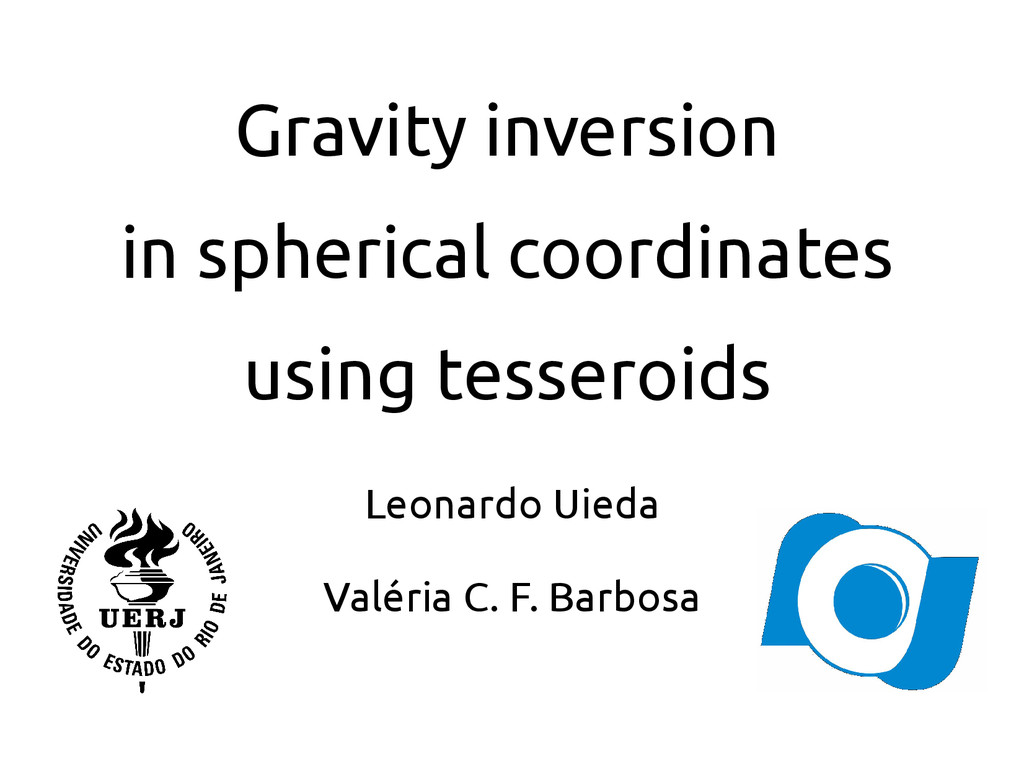 Gravity inversion in spherical coordinates usin...