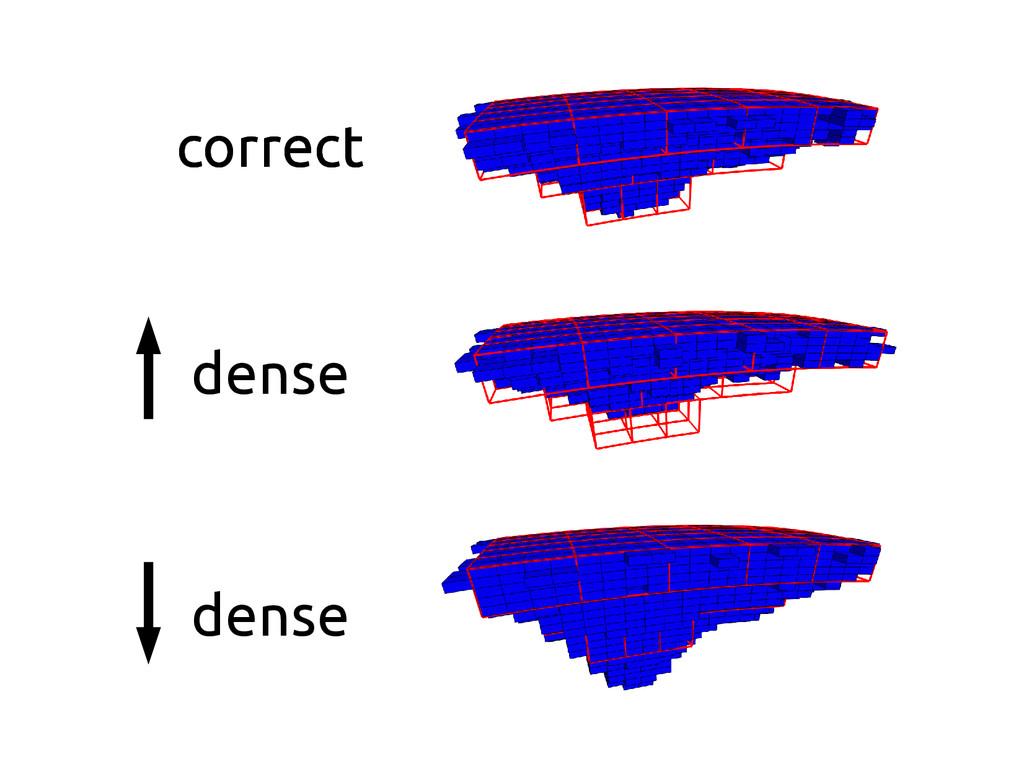 correct dense correct dense