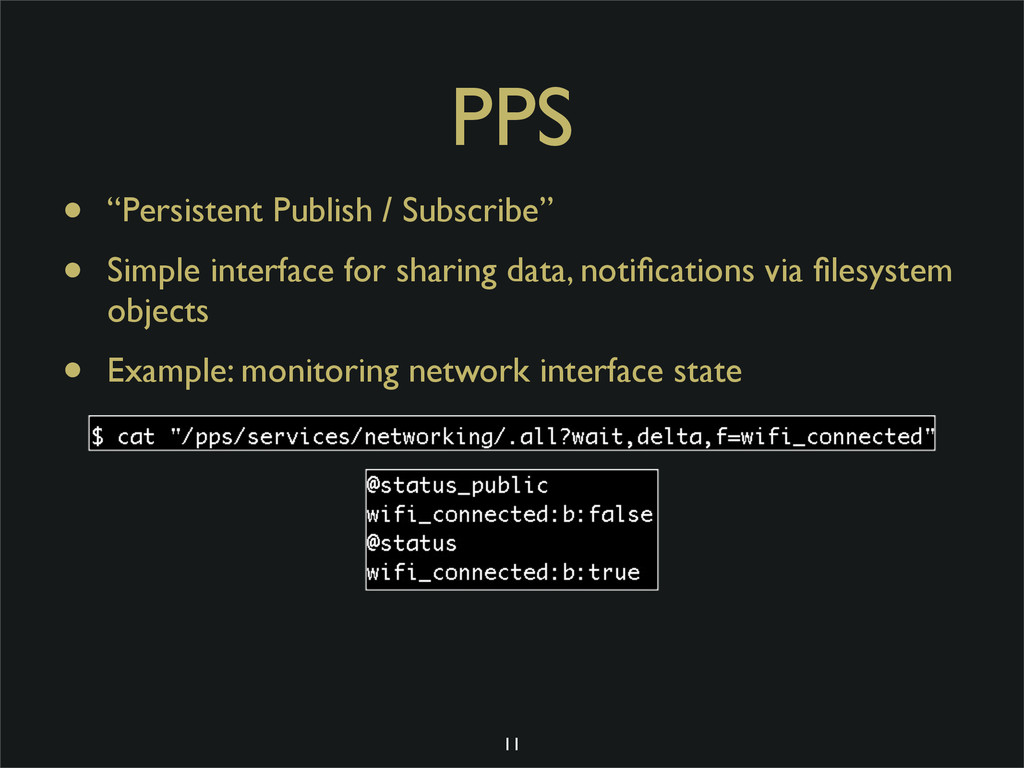"PPS • ""Persistent Publish / Subscribe"" • Simple..."