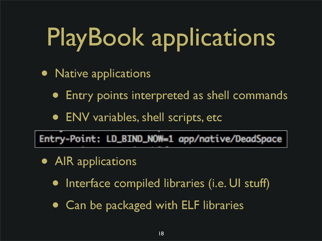 PlayBook applications • Native applications • E...