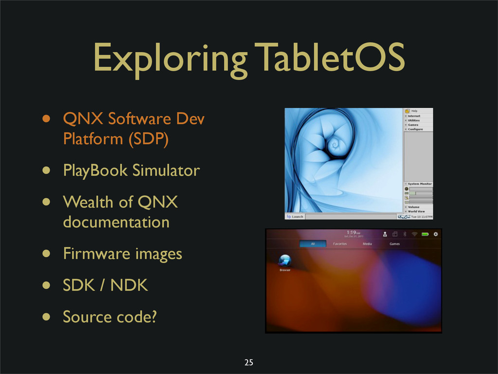 Exploring TabletOS • QNX Software Dev Platform ...