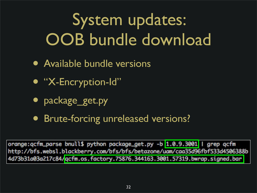 System updates: OOB bundle download • Available...