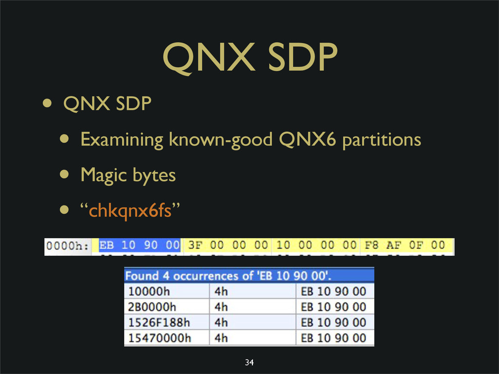 QNX SDP • QNX SDP • Examining known-good QNX6 p...