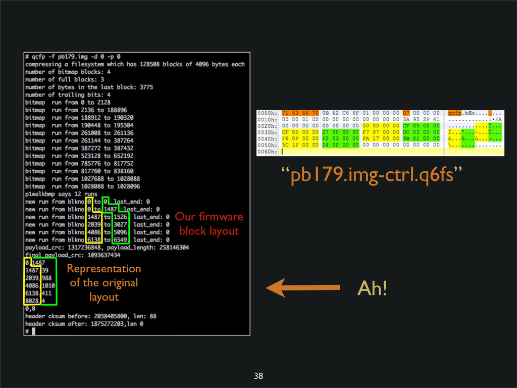 "Ah! ""pb179.img-ctrl.q6fs"" 38 Our firmware block ..."