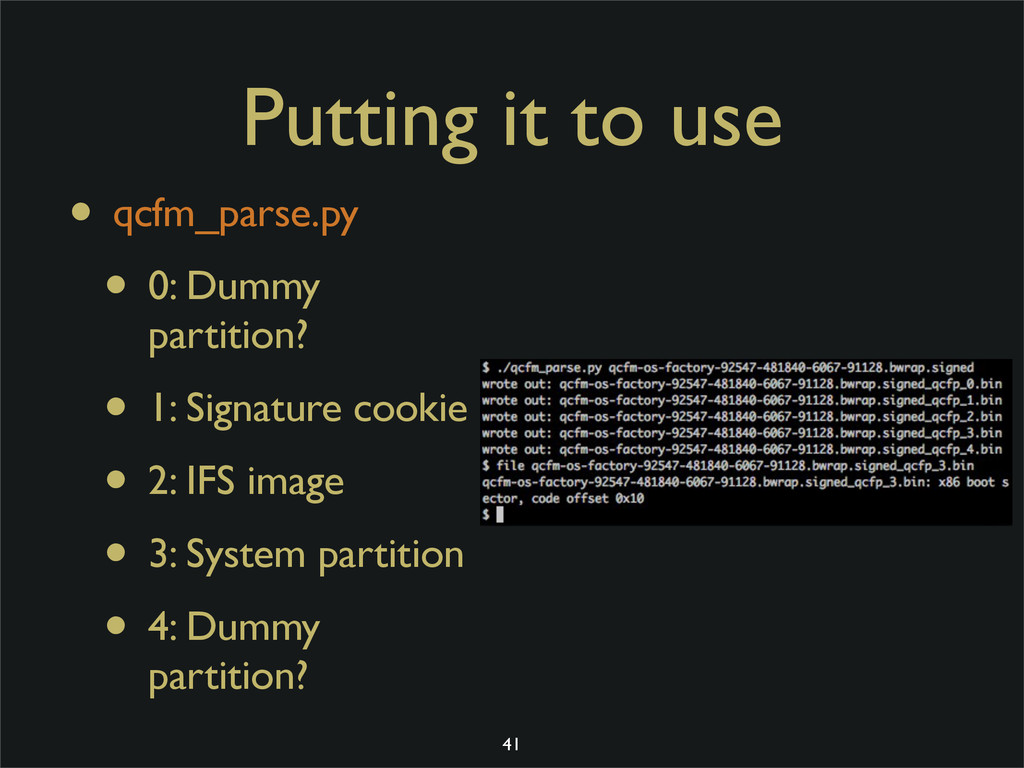 Putting it to use • qcfm_parse.py • 0: Dummy pa...