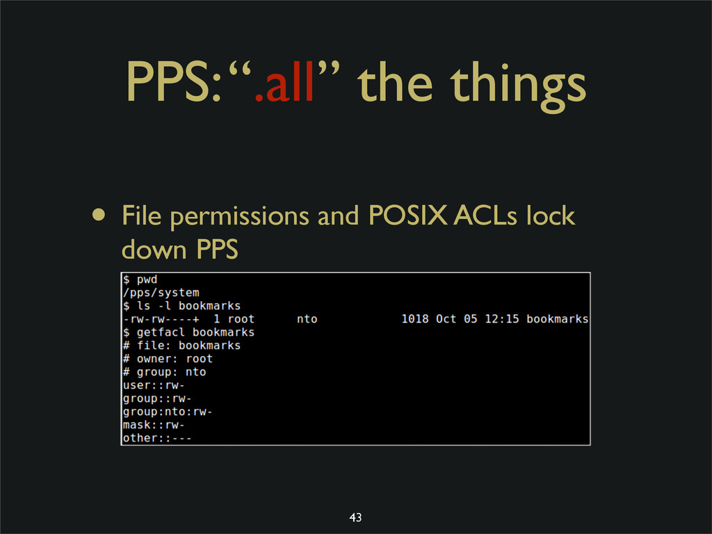 """PPS: """".all"""" the things • File permissions and P..."""