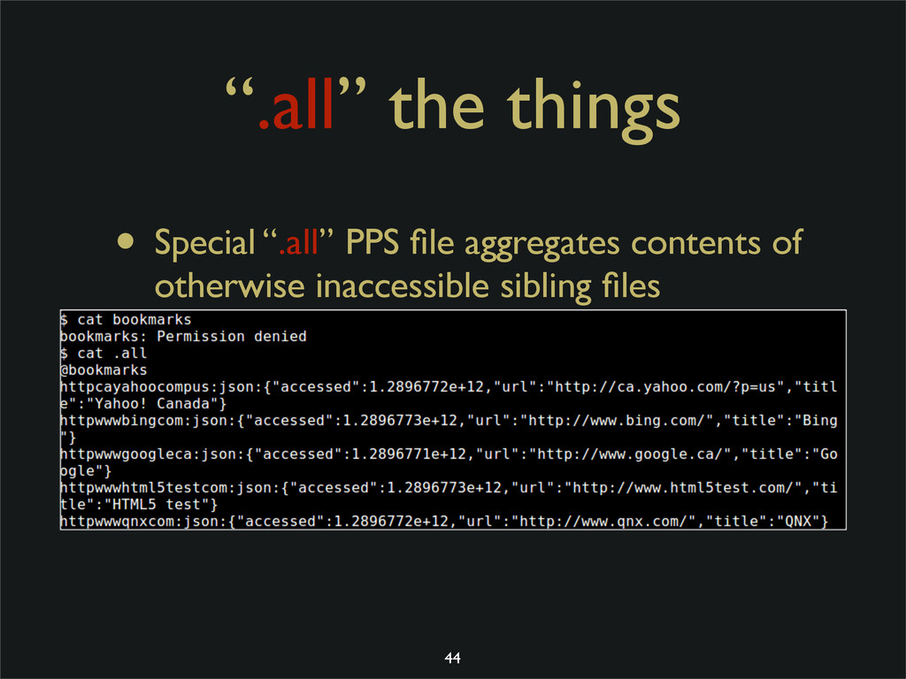 """.all"" the things • Special "".all"" PPS file aggr..."