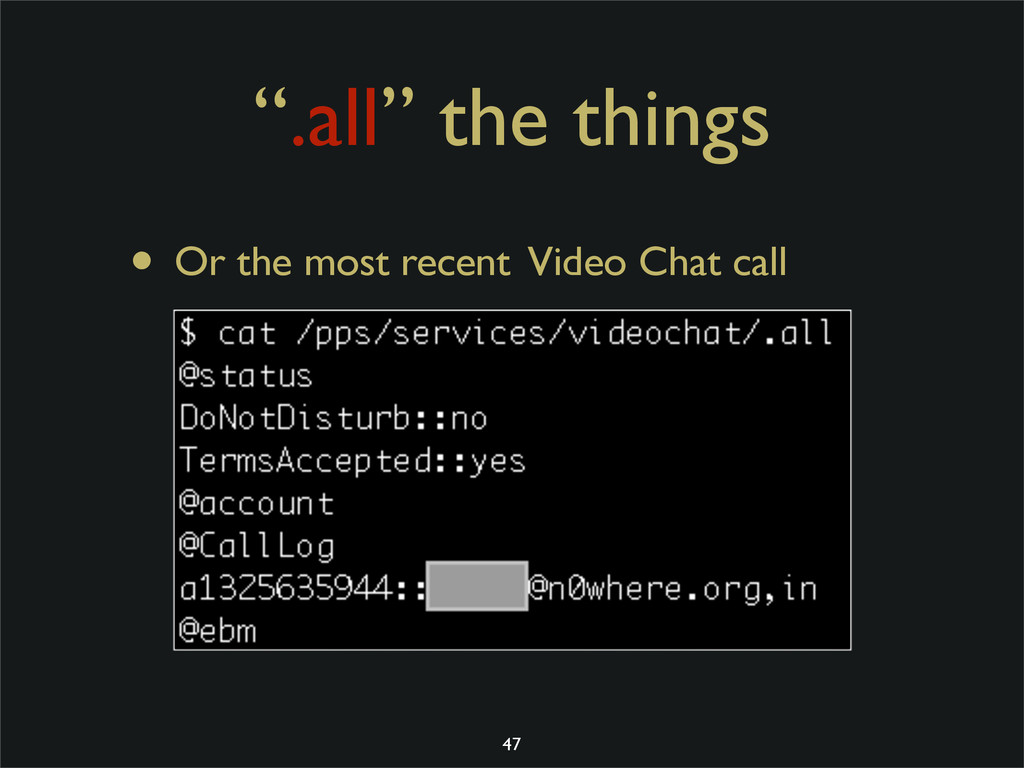 """"""".all"""" the things • Or the most recent Video Ch..."""