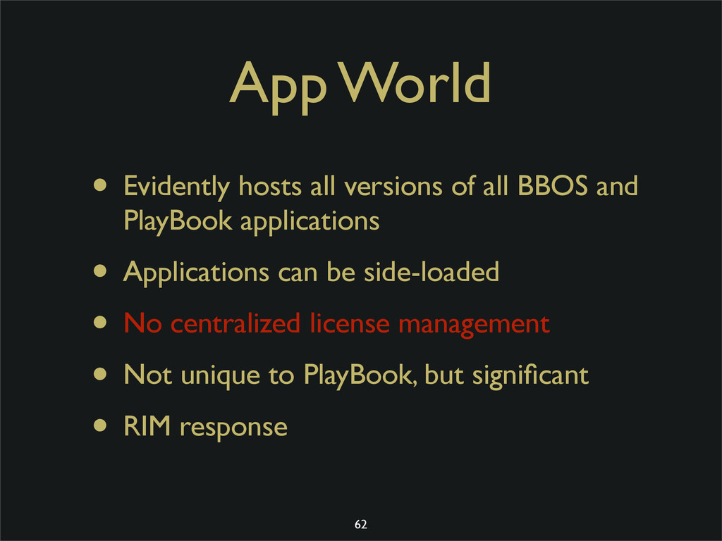 App World • Evidently hosts all versions of all...