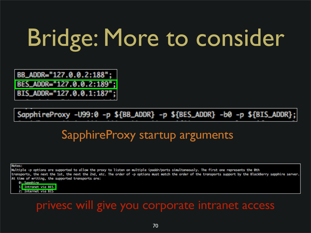Bridge: More to consider SapphireProxy startup ...