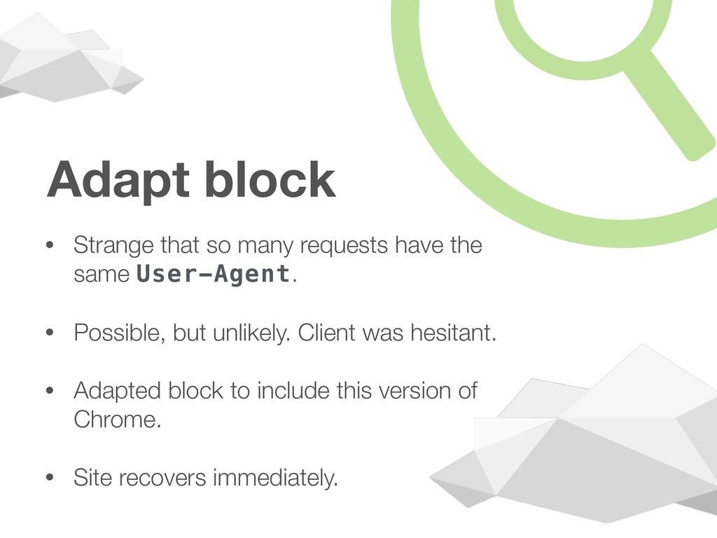 Adapt block • Strange that so many requests hav...