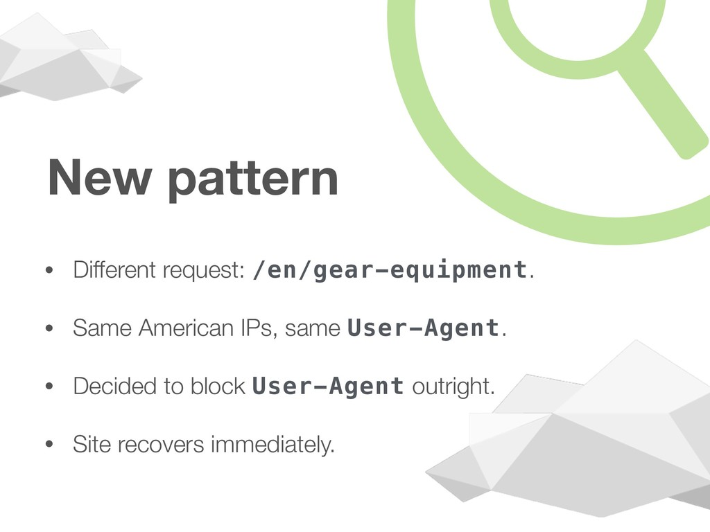 New pattern • Different request: /en/gear-equip...