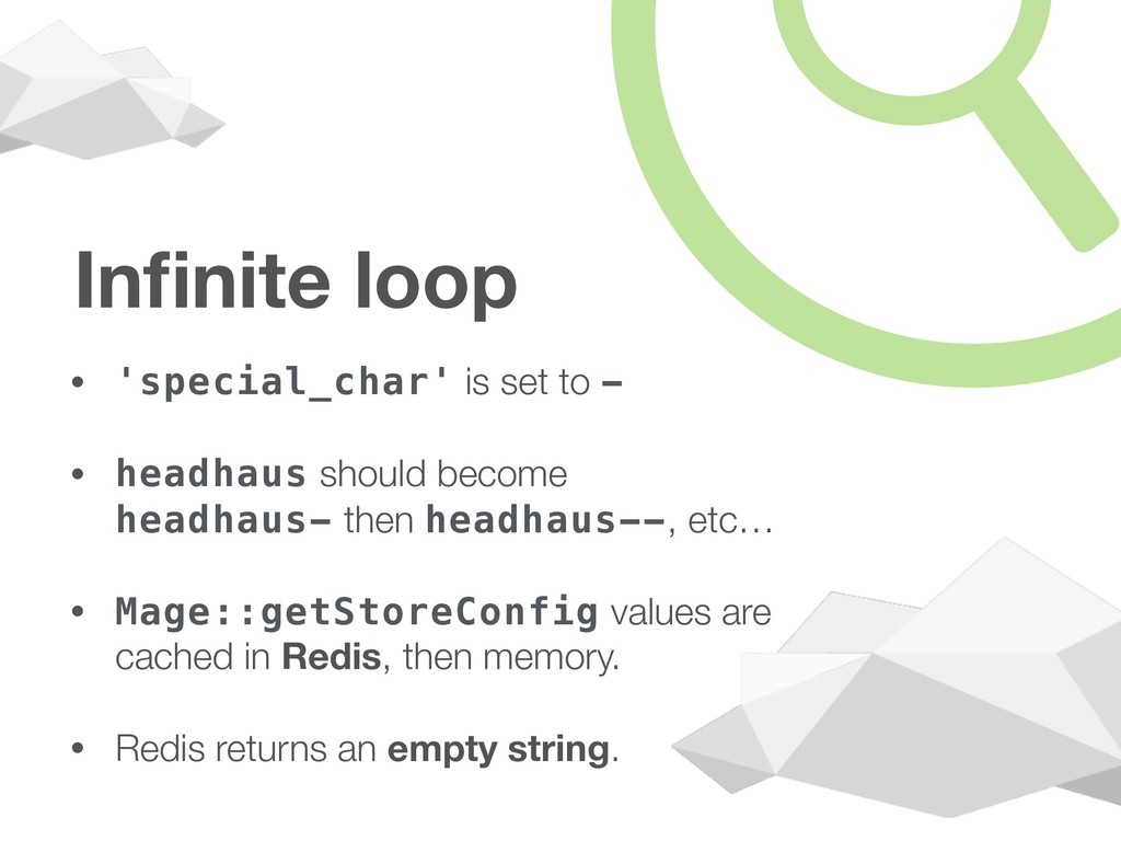 Infinite loop • 'special_char' is set to - • hea...