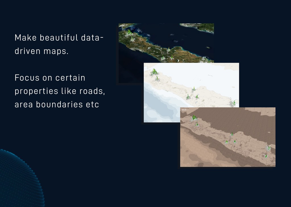 Make beautiful data- driven maps. Focus on cert...