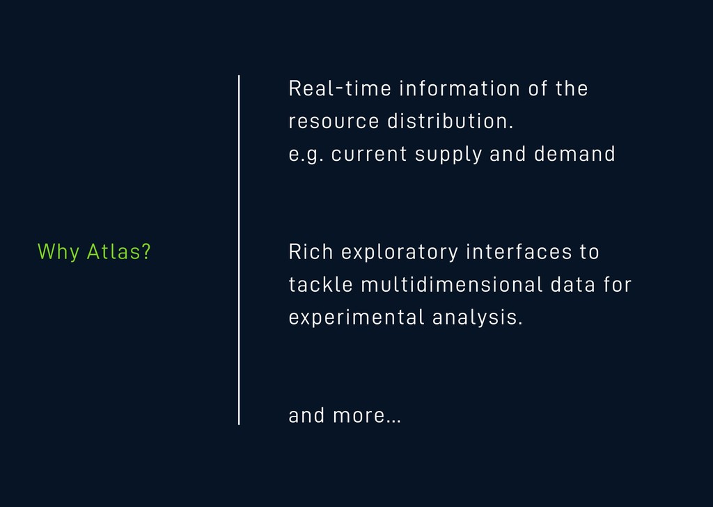 Why Atlas? Real-time information of the resourc...