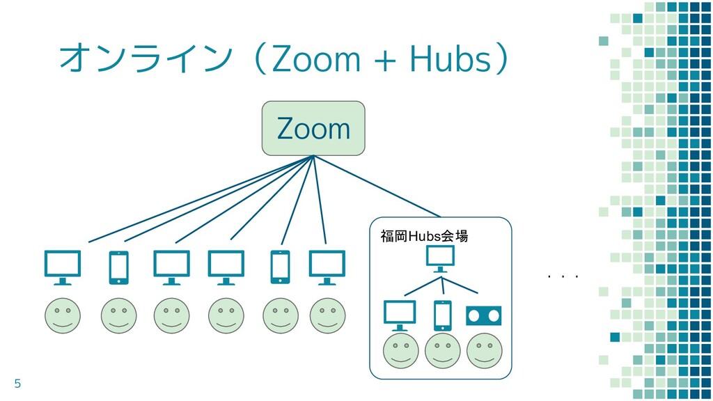 オンライン(Zoom + Hubs) 5 Zoom ・・・ 福岡Hubs会場