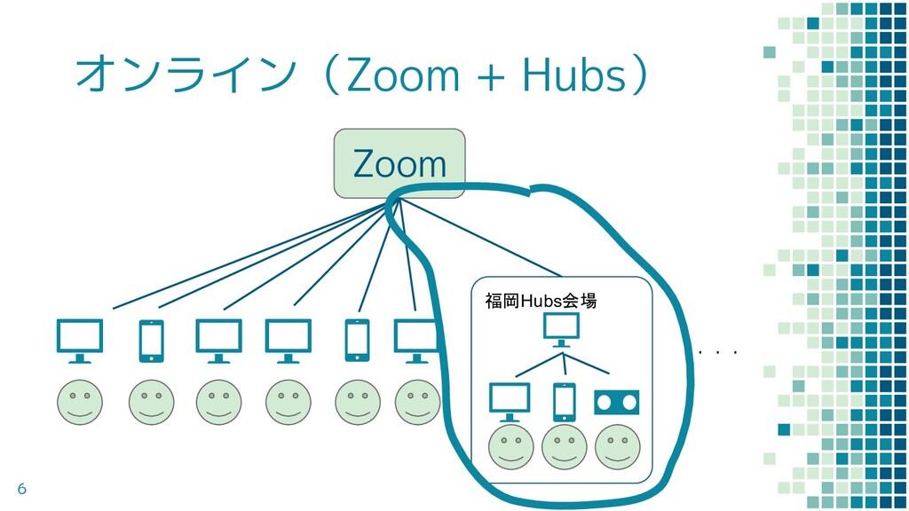 オンライン(Zoom + Hubs) 6 Zoom ・・・ 福岡Hubs会場
