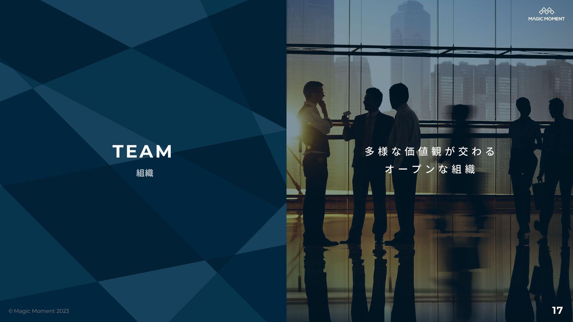 多 様 な 価 値 観 が 交 わ る オ ー プ ン な 組 織 TEAM 組織 © Mag...