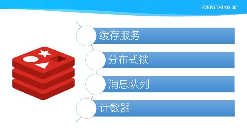 缓存服务 分布式锁 消息队列 计数器
