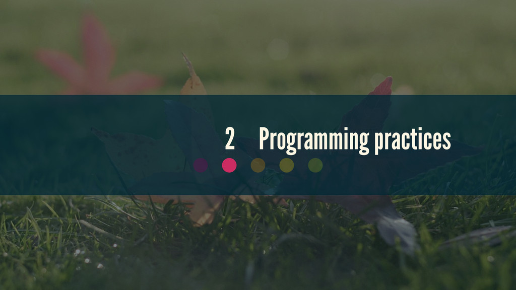 2 Programming practices
