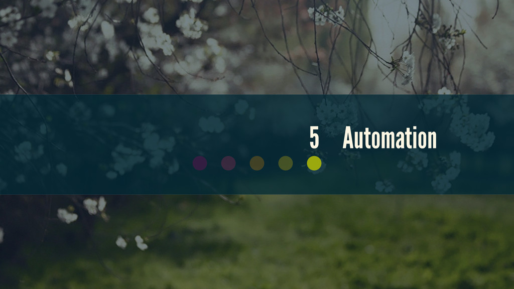 5 Automation