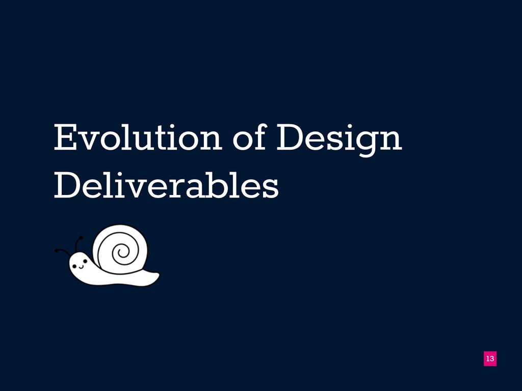 Evolution of Design Deliverables 13