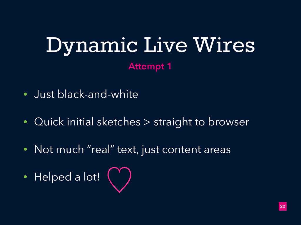 Dynamic Live Wires • Just black-and-white • Qui...