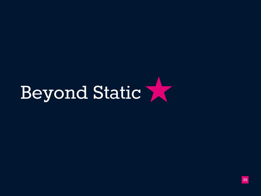 Beyond Static 35