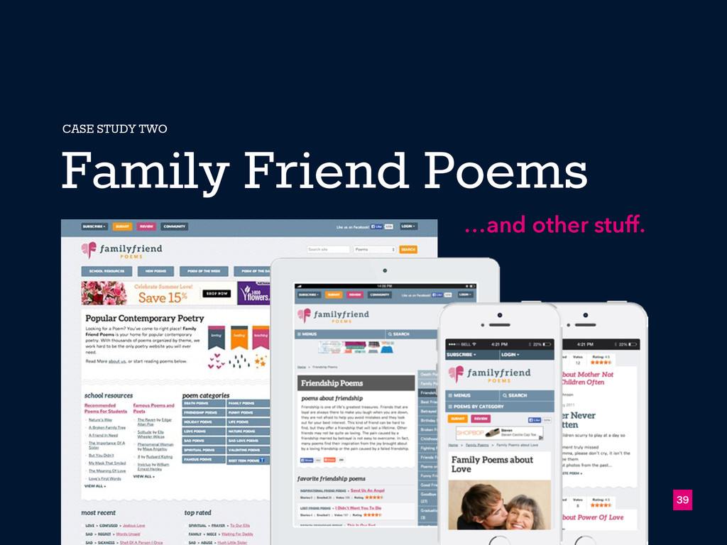 39 Family Friend Poems CASE STUDY TWO …and othe...