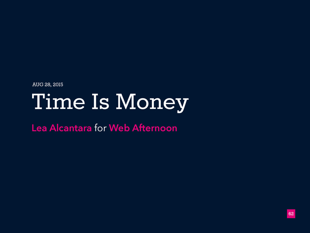 62 Time Is Money Lea Alcantara for Web Afternoo...
