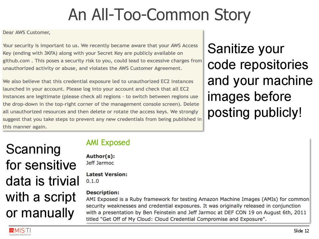 Slide 12 An All-Too-Common Story Sanitize your ...