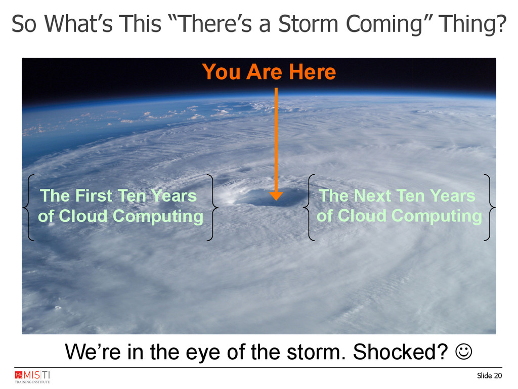 "Slide 20 So What's This ""There's a Storm Coming..."