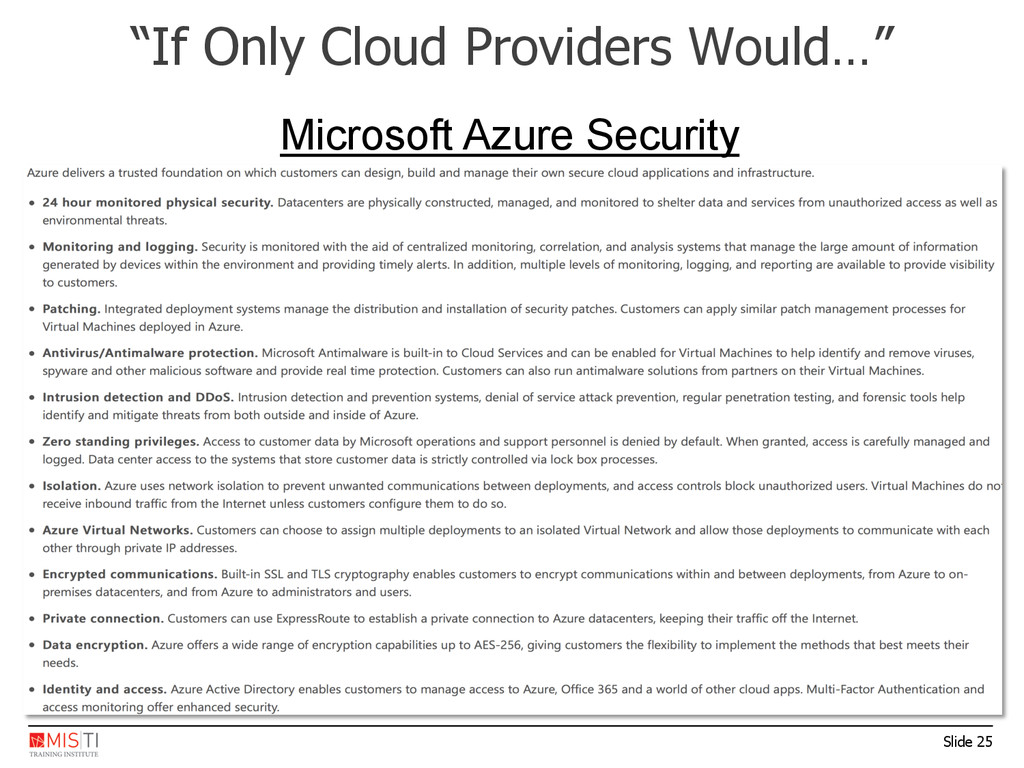 "Slide 25 ""If Only Cloud Providers Would…"" Micro..."