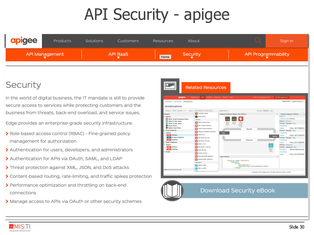 Slide 30 API Security - apigee