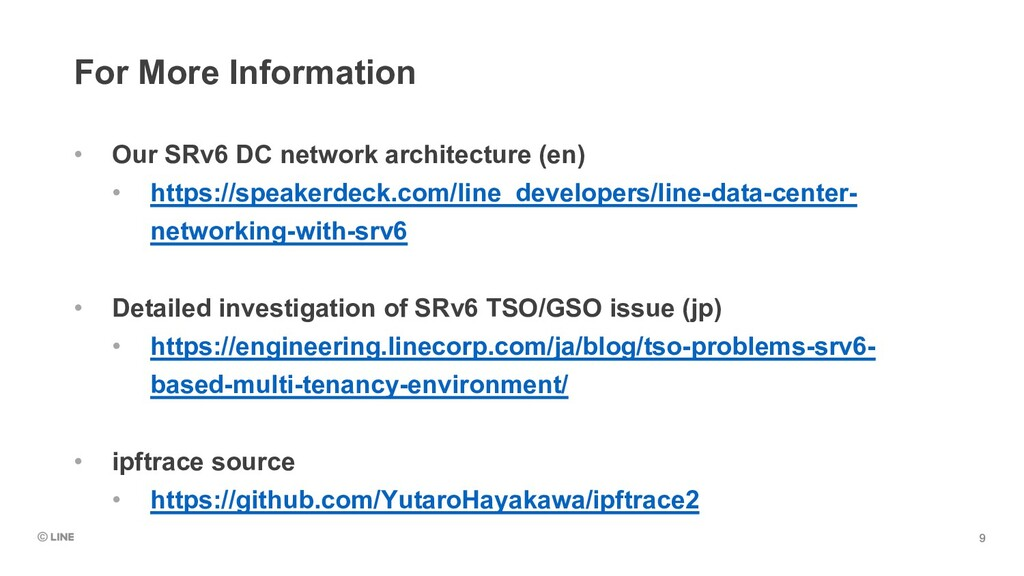 For More Information • Our SRv6 DC network arch...