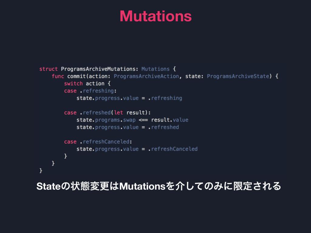 Mutations Stateͷঢ়ଶมߋMutationsΛհͯ͠ͷΈʹݶఆ͞ΕΔ