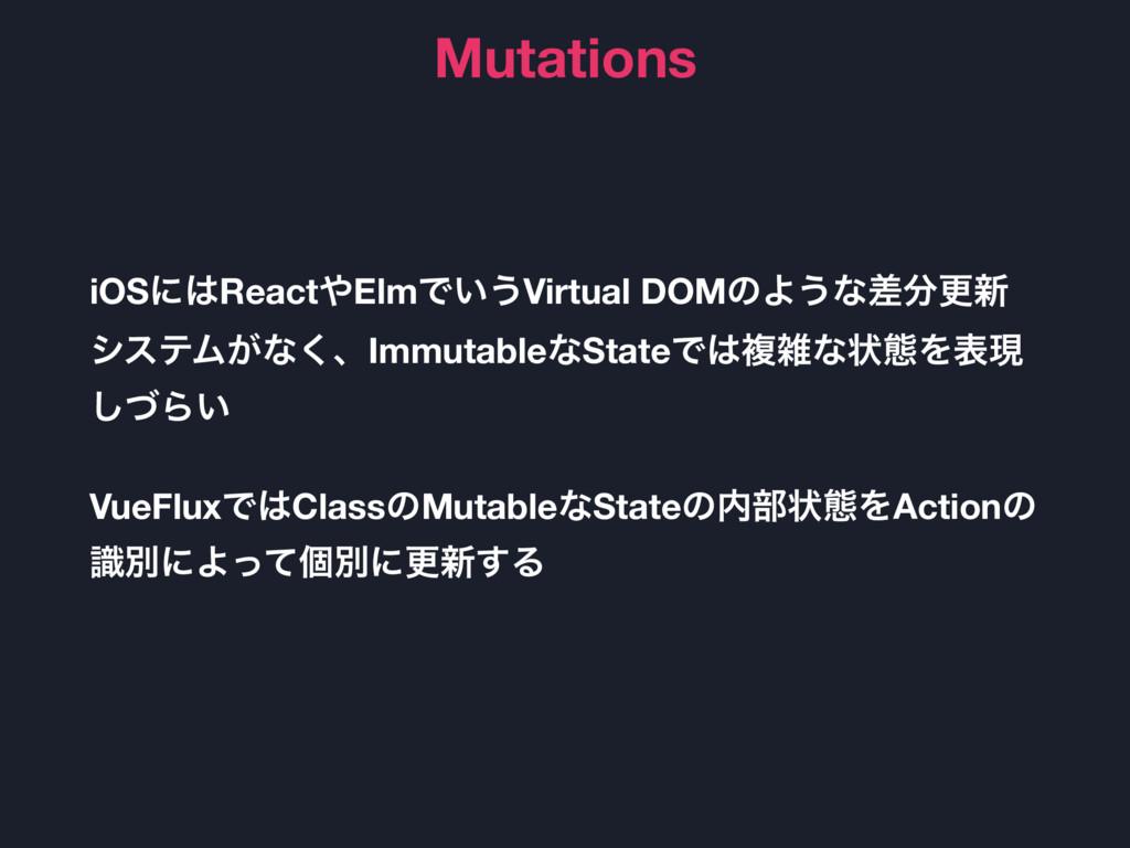 Mutations iOSʹReactElmͰ͍͏Virtual DOMͷΑ͏ͳࠩߋ৽ ...