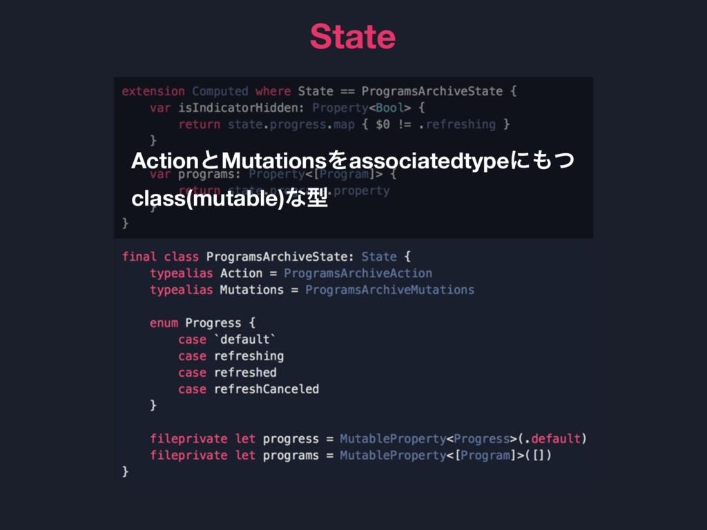 State ActionͱMutationsΛassociatedtypeʹͭ class(...