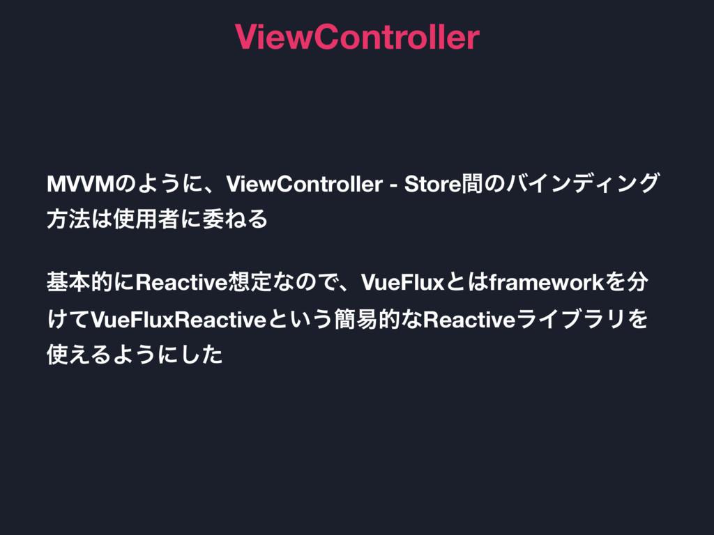 ViewController MVVMͷΑ͏ʹɺViewController - Storeؒ...